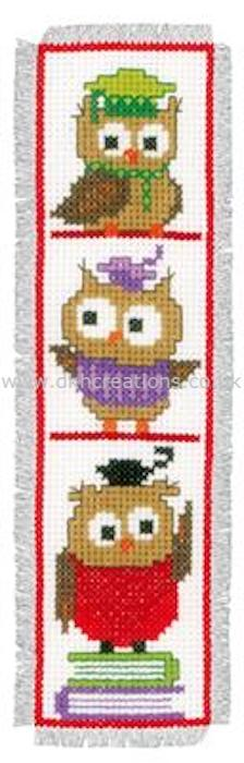 Clever Owls  Bookmark Cross Stitch Kit